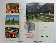 355 - Dépliant Pub Photo Projecteur Malik 302 - (1950/60)