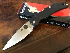 Spyderco Knife Native Chief Black G10 Plain Edge S35V Made in USA C244GP
