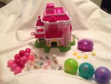 HUGE Squinkies Toys Barbie Pink Dream House Dispenser Playset Lot Plus Extras
