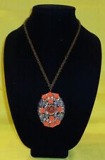 Roses and a Red Rose Necklace with a Pendant with Orange