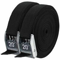 "NRS 1"" HD Tie-Down Straps - Stealth Black - 20' Pair"