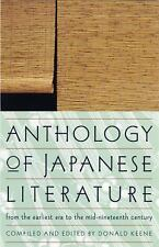 Anthology of Japanese Literature: From the Earliest Era to the Mid-Nineteenth Ce