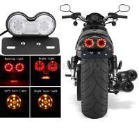 LED Motorcycle Motorbike Rear Tail Light Brake Turn Indicator Lamp License Plate
