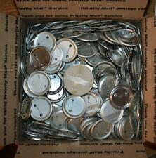 """Large Lot of 950 2-1/2"""" Pinback Button Metal Backs with approx. 500 mylar covers"""