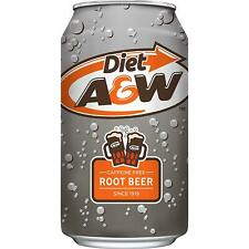 A&W Diet Root Beer(CaffeineFree)355ml-Total 24 Cans (Short Date-2/6/2020)
