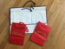 6 VNTG Store Paper Shopping Gift Bags Chanel Escada