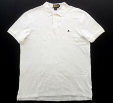 VINTAGE RUGBY RALPH LAUREN SKULL AND BONES WHITE MENS Size XL POLO SHIRT Stadium