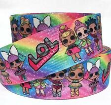"Grosgrain Ribbon 5/8"", 7/8"", 1.5"" & 3"" Dolls Cartoon Crafts Hairbows Printed"