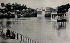 1912 Madurai Golden Lily Tank Temple India Photogravure Photograph