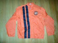 VTG Racing Orange  Stripe Jacket 1970s Tire Uniroyal Tiger Paw 60 Patch Mens S