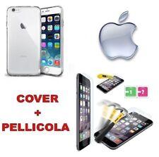 """Custodia Cover Case Slim silicone trasparente iphone 6 6S 4.7"""" + Pellicola Vetro"""