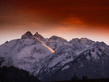 Foto Snowy Mountain Alpine Algovia Germania Wall Art Print PICTURE POSTER hp2747