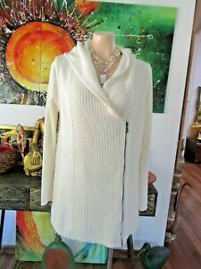 BGBGeneration Tunic/Jacket White With Hood US Designer Size M 10/12/14
