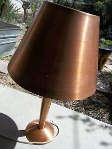 1940's Modern Art Copper Table Lamp 20 x11 1/2