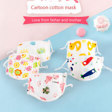 3 Packs Kid 5 Layers Cotton Fabric Face Cover Filter Reusable Washable Anti Dust