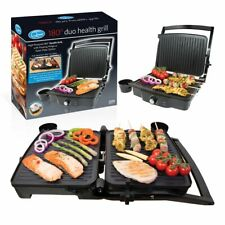 Twin Duo 180° Panini Press & Flat Grill Toaster Stainless Steel 2000W Griller