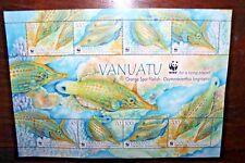 "FRANCOBOLLI VANUATU 2013 ""WWF - PESCI - FISH"" NUOVO MNH** BLOCK (CAT.Z)"