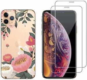 iPhone 11 PRO MAX - Coque fantaisie + 2 Films protection écran verre trempé