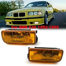 For 1992-1998 BMW E36 3 SERIES REPLACEMENT FOG LIGHTS LAMPS CRYSTAL YELLOW LENS