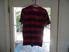 Aeropostale men's size L deep pink/gray stripe t-shirt
