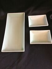 Individual Sushi Tray & 2 Sauce Dishes by Knobler Porcelain China