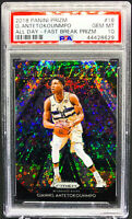 Giannis Antetokounmpo 2018-2019 Panini Prizm All Day Fast Break PSA 10 Bucks 💎