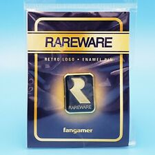 "Rareware Retro Logo Pin 1.1"" Gold *Official* Rare Banjo-Kazooie Batteltoads"