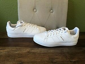 Adidas Originals White Leather Stan Smith Vulc Trainers - Size UK 6