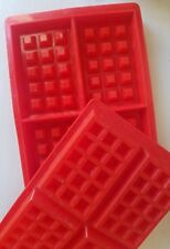 Silicone Waffle Mold Maker Baking Cookie Cake Muffin Bakeware Cooking Too