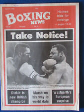Boxing News Magazine - 18/4/86 - Horace avis & hughroy Currie cover