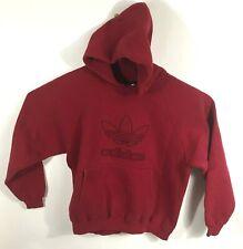 NWOT Men/'s Adidas Fleece Original Logo Pullover Hoodie Maroon Style 566FA Size L