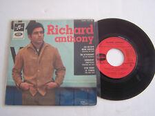 EP 45 T VINYL 4 TITRES ,  RICHARD ANTHONY , AU REVOIR MON AMOUR . G / VG .