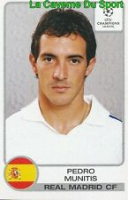 018 PEDRO MUNITIS ESPANA REAL MADRID STICKER CHAMPIONS LEAGUE 2002 PANINI