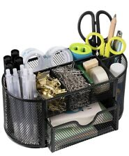 Pen and Pencil Organizer for Office and School Desk Supplies Metal Mesh Black
