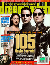 UK Dreamwatch 5/03,Carrie-Anne Moss,Keanu Reeves,Monica Bellucci,May 2003,NEW