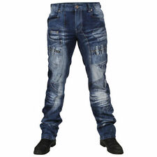 Stonewashed Regular Tapered Rise 34L Jeans for Men