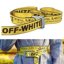 Off White Tie Down Nylon Cotton Big IRON Head Industrial Belt 200CM US ship