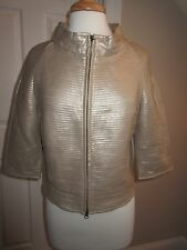 JACKET / COAT - Bagatelle - Faux Leather - Light Gold - Tucked Jacket - Sz M
