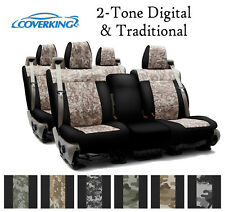 Coverking Custom Seat Covers Neosupreme Front and Rear Row - 2-Tone Digital Trad