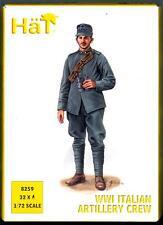 HaT Miniatures 1/72 WORLD WAR I ITALIAN ARTILLERY CREW Figure Set