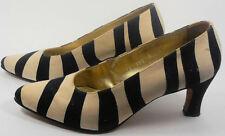 Escada Vintage Shoes Pumps 7 37 Black White Zebra Animal Safari Hapachico Haute