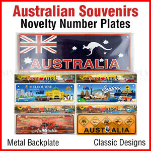 Souvenir Australian Souvenirs Car Number Plate Novelty Metal Bulk Aussie Gift