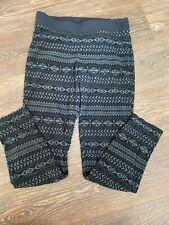 columbia Youth Fleece Pants 14/16 Black Gray