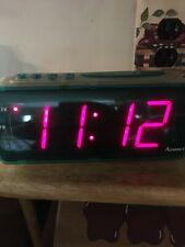 Vintage Advance Digital Alarm Clock w/Snooze Battery Backup Teal Green #4022