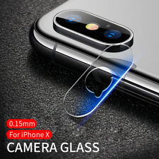 For iPhone X Rear Back Camera Protector Protective Lens Case Ring Cover + Glass