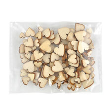 100PCS Rustic Wood MINI Love Heart Wedding Table Scatter Decoration Crafts DIY