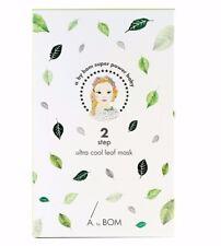 10 Sheets Leaf Mask Korea A.by BOM Super Power Baby 2 Step Ultra Cool Leaf Mask