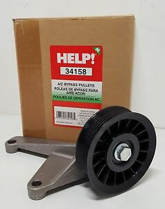 New A/C Compressor Bypass Pulley Fits Chevrolet GMC 6.5L 34158