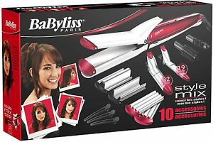 BaByliss MS22E Set Shaper Hair 10 IN 1 Straightening Ripple Moulding White/Pink