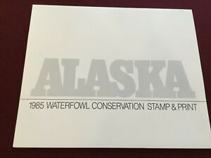 1985 Alaska Waterfowl Conservation Stamp & Print, Signed and Numbered